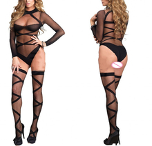Sexy Lingerie hot Bodysuit Sexy Costumes Intimates Women Bodystocking open crotch sex products  erotic lingerie Chemises qq173