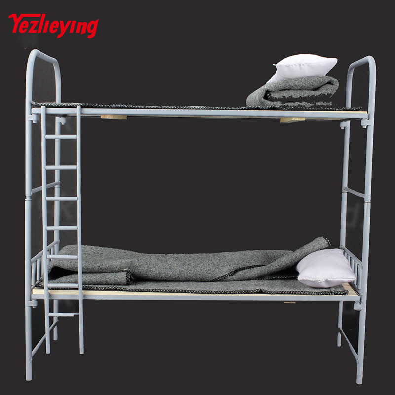 1/6 Scale Military Accessories Toy Model WWII German Metal & Wooden Bunk Bed Set Fit 12 Inch Hottoys action figure Scene Props 1 6 scene accessories gc1601 old cabin model 1 0 fit 12 soldier figure