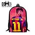 Sacos de escola para o adolescente neymar dispalang meninos personagens mochila para estudante primário, elegante e leve mochila para crianças