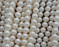 8MM AA Round Pearl Strand , White Color Real Pearl Loose Beads , Perfect Freshwater Pearl Jewelry,DIY Jewelry Making