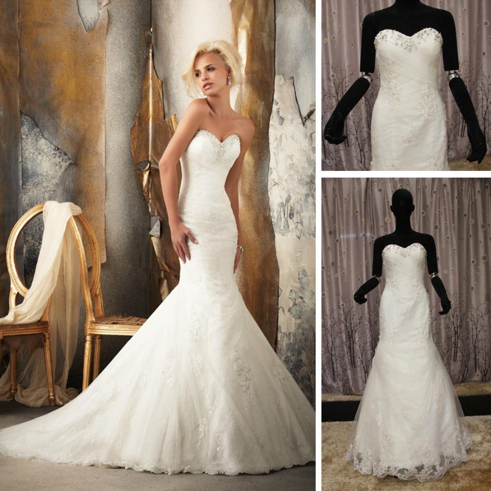 Spanish Lace Wedding Gown: WE50 Lace Wedding Dress Sweetheart Neckline Mermaid