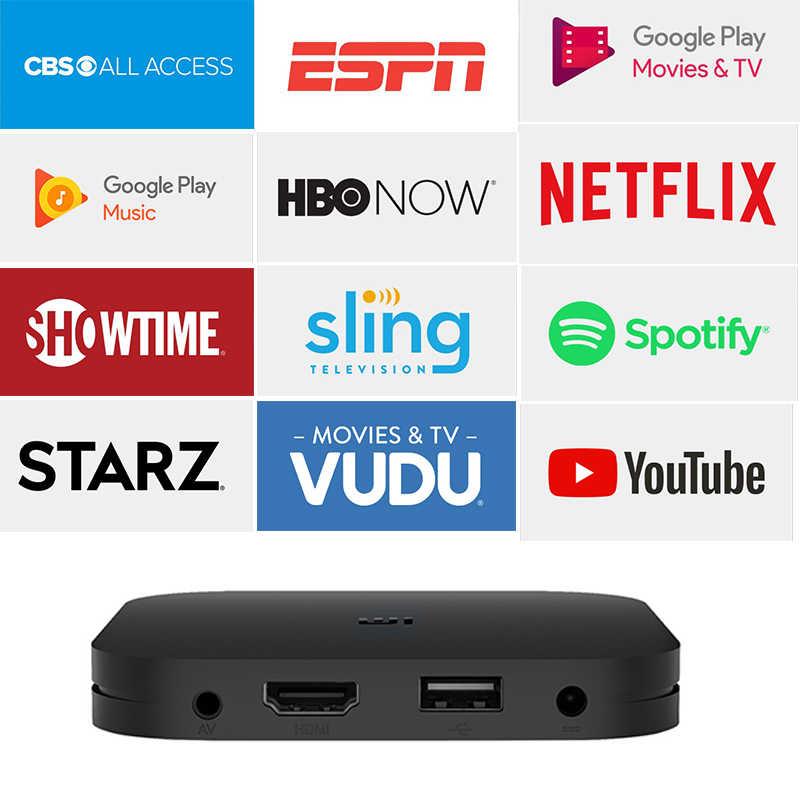 Versão global xiaomi mi caixa s 4 k hdr android tv 8.1 caixa ultra hd 2g 8g wifi google elenco netflix iptv conjunto caixa superior media player
