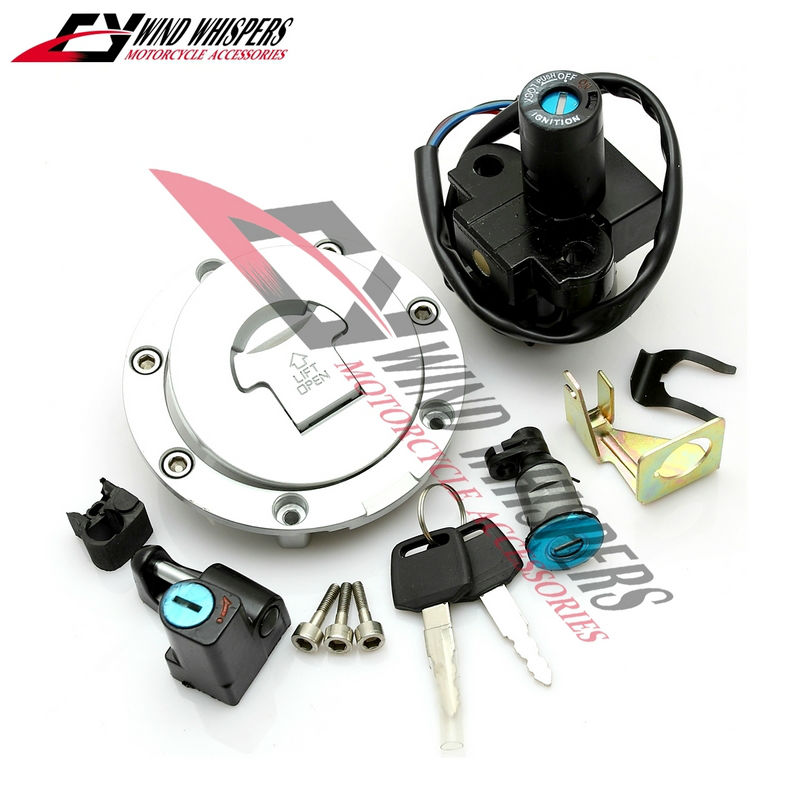 US $22 9 |Motorcycle Ignition Switch Lock Fuel gas Tank Cap Cover Seat  Handle Locks Include Key For Honda CB400 SuperFour 1992 1998 CB 1-in Locks  &