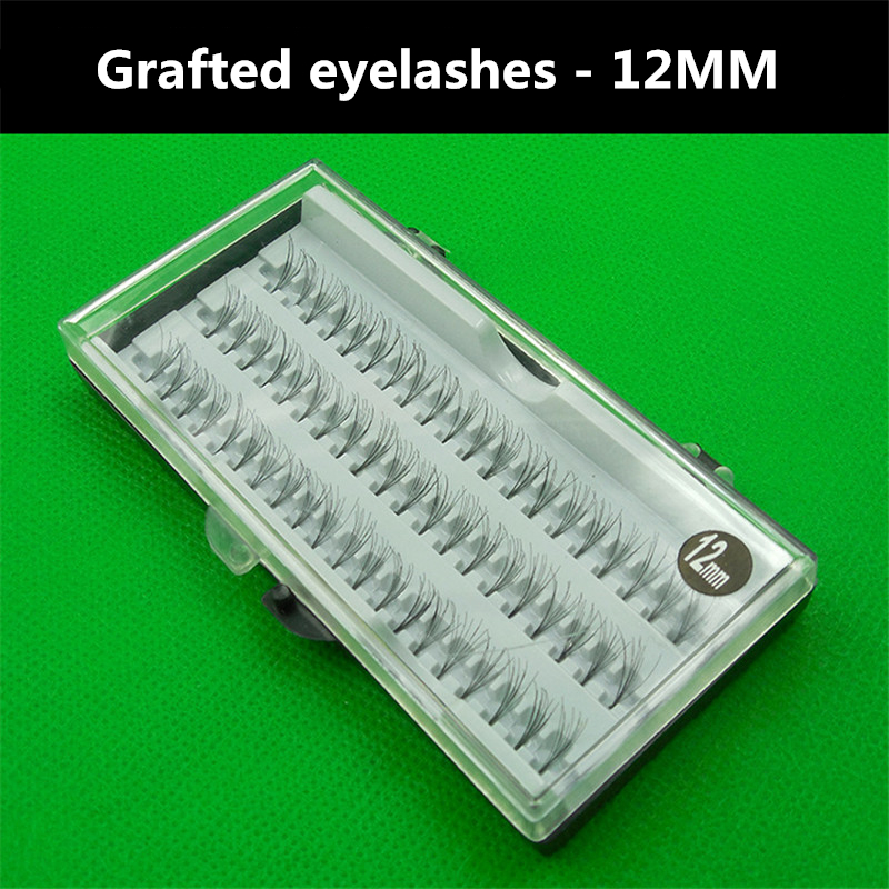 60pcs 12MM High Quality 3D Natural individual Eye Lashes Extension Grafting False Eyelashes Makeup Tools