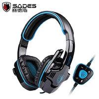 SADES SA 901 USB Audifonos Gaming Headset 7 1 Surround Sound Best Casque Gamer Headphone Earphone