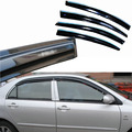 4pcs Windows Vent Visors Rain Guard Dark Sun Shield Deflectors For Toyota Corolla EX 2003-2013