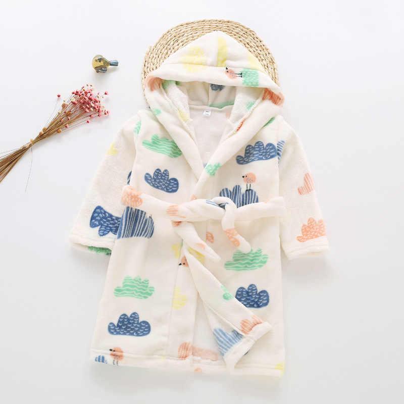 ... Детский халат для девочки одежда осень детская зимняя мальчиков фланель  ночная рубашка Хлопок халаты для ... 3d101e54a6874
