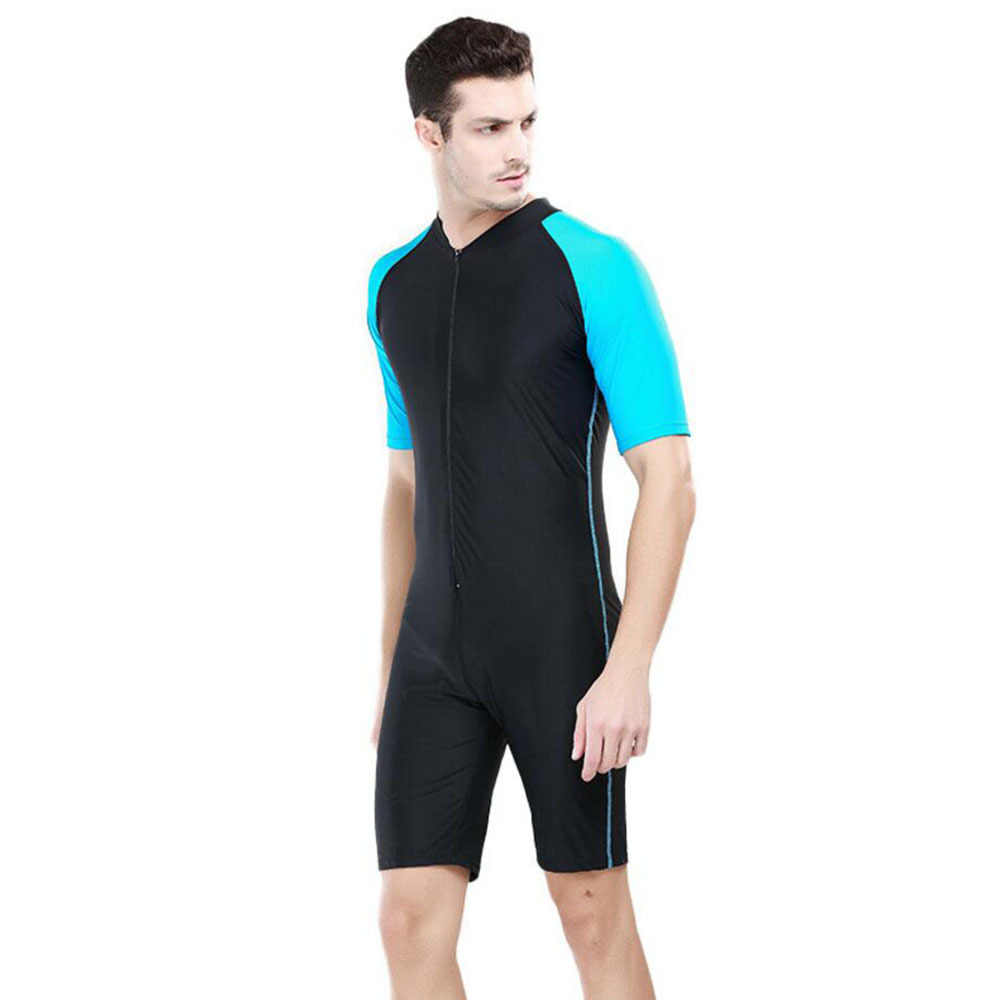 Sbart korte mouw Siamese duikpak, droog snel, surf kleding, zonnebrandcrème, paars kwallen, snorkelen