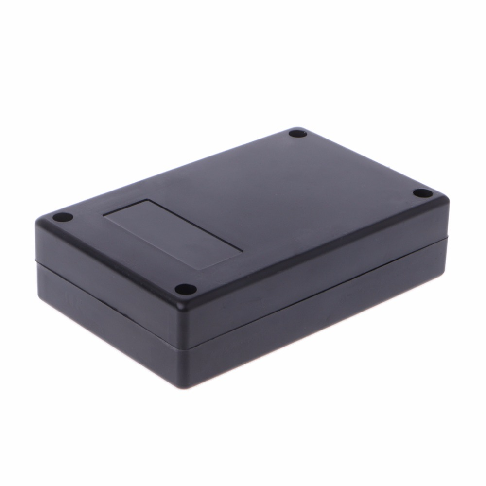 bgektoth new 125x83x32mm black waterproof box electronic project instrument case connector built-in hole hold circuit board