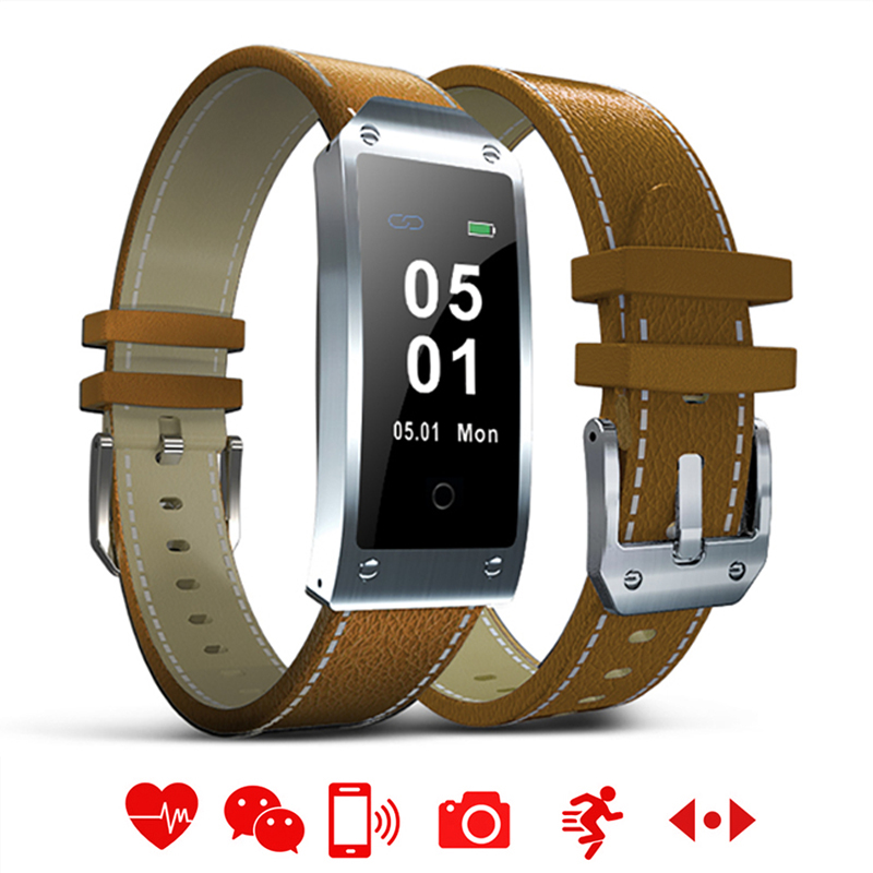 Rectangle LED Touch Smart Watch Men Fashion Multifunction Bluetooth Leather Bracelet LED Fitness Sports Women Camera Smartwatch stylish golden hollow rounded rectangle hasp bracelet for women