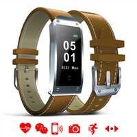 Rectangle LED Touch Smart Watch Men Fashion Multifunction Bluetooth Leather Bracelet LED Fitness Sports Women Camera Smartwatch