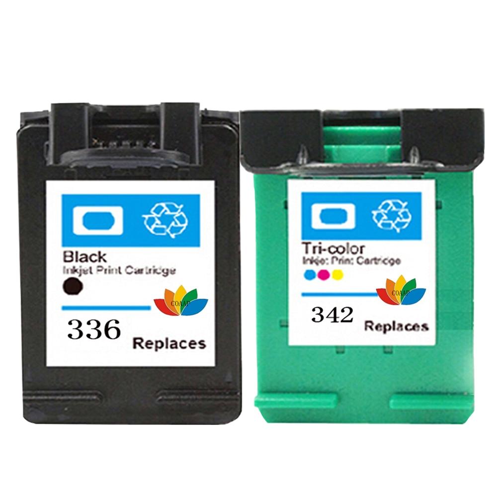 2 Compatible hp336 342 Replacemen Ink Cartridge For HP PSC 1500 1510 1513 1600 1610 2300 2610 Photosmart C3100 C3110 C3140 C3150