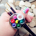 2016 New Beauty Nail Art Tools Metal Plate Nail Art Color Palette For Hang Ring Palette Nail Drawing Paint Color Palette Tools