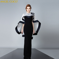 Robe De Soiree 2019 Annual Meeting Banquet Black Dubai Abaya Temperament Cloak Costumes Evening Dresses Long Gown Abendkleider