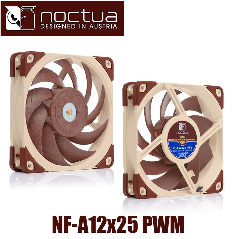 Noctua NF-A12x25 PWM 120x120x25mm 4p pwm 2000 RPM 12cm 120mm PC computer case Fan CPU Cooling Cooler heat sink radiator Fan 1u server computer copper radiator cooler cooling heatsink for intel lga 2011 active cooling