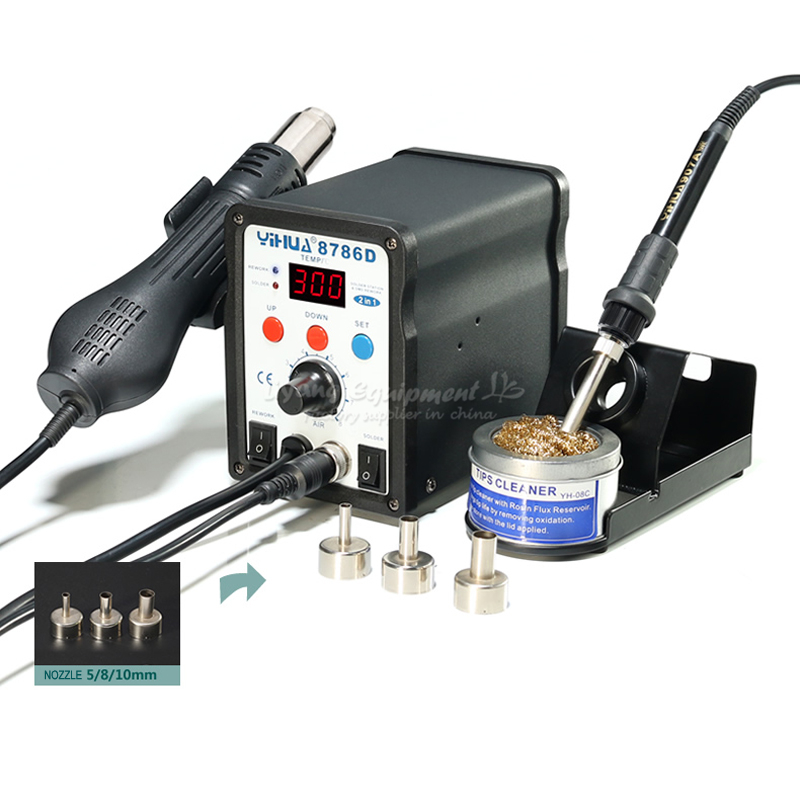 750W 2 in 1 Temperature control digital display air gun soldering station YIHUA-8786D digital indoor air quality carbon dioxide meter temperature rh humidity twa stel display 99 points made in taiwan co2 monitor