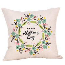 High Quality Cushion 2019 Happy Mother's Day Pillow cozy Sofa Bed Home Decoration Festival Cushion personality cogines para sofa(China)