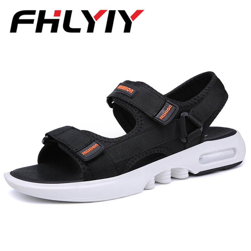 2018 New MenS Sandals Summer Black Casual Shoes High Quality Flat Beach Sandals Slipper For Men Hommes Sandalias Zapatos Hombr