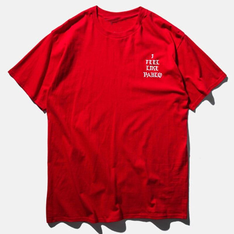 2018 Kanye West Pablo   T     Shirt   Men I Feel Like Paul Print Short Sleeves Anti Season 3   T  -  Shirt   Hip Hop Social Club Rapper Tee Tops