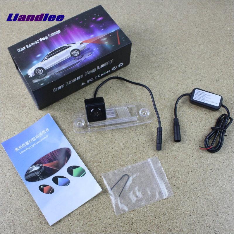 Liandlee Anti Collision Laser Lights For Hyundai Sonata NF GF Car Prevent Mist Fog Lamps Anti Haze Warning Rear Light