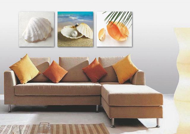 Dipinti Per Soggiorno : ჱ pannello moderna stampato blue beach dipinti di paesaggi
