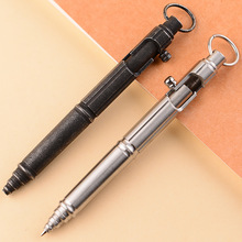 Penna a sfera in acciaio inossidabile fatta a mano bullone rotto finestra tattica protettiva penna in metallo EDC strumento di scrittura per autodifesa allaperto portatile