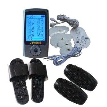 Tens уход за телом цифровой терапевтический массажер устройство для расслабления мышц с акупунктурным массажным рулоном физиотерапевтическ