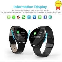 Blood Pressure hR monitor Smartwatch 30Day standby Message Display Facebook Twitter Notification reminder Waterproof Smart Watch