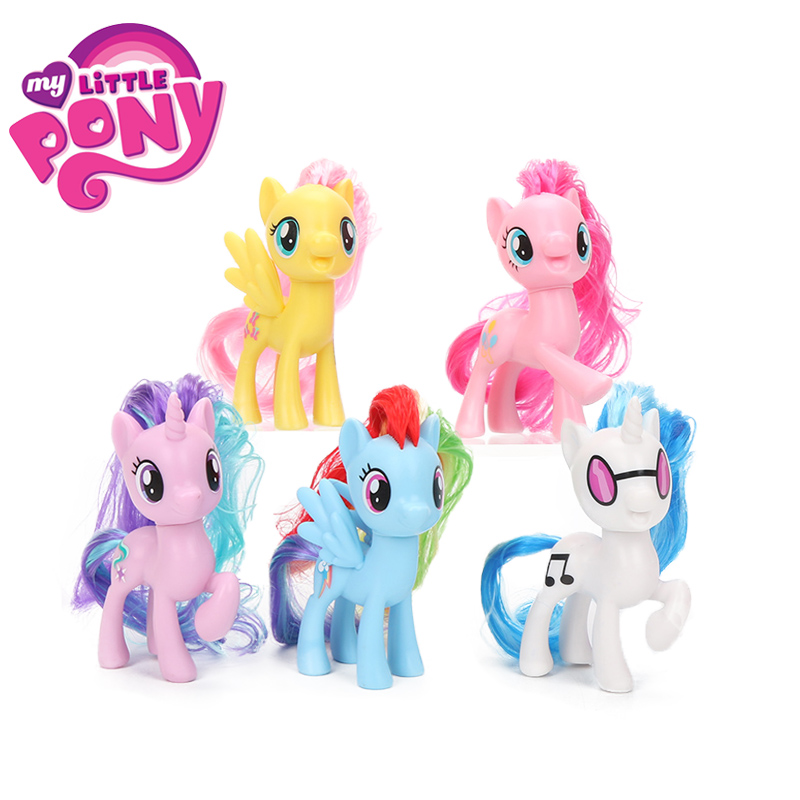 My Little Pony Toys Friendship is Magic Rainbow Dash Pinkie Pie Lyra Heartstring Rarity PVC <font><b>Action</b></font> <font><b>Figure</b></font> Collectible Model Doll