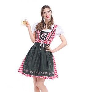 Image 1 - S 6XL 2020 Adulto Donne Oktoberfest Costume Octoberfest Bavarese Dirndl Cameriera Contadino del Vestito Operato Del Partito Femminile Oktoberfest Vestito