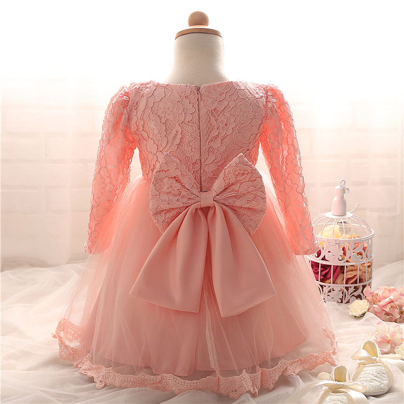 2017 Winter Baby Infant Girl Dresses Cute Bow Baby Girls First