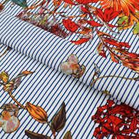 2018 nuevo azul profundo de reactiva teñido de tela de algodón puro para vestido de verano camisa telas por metros tissu es metro vestido DIY