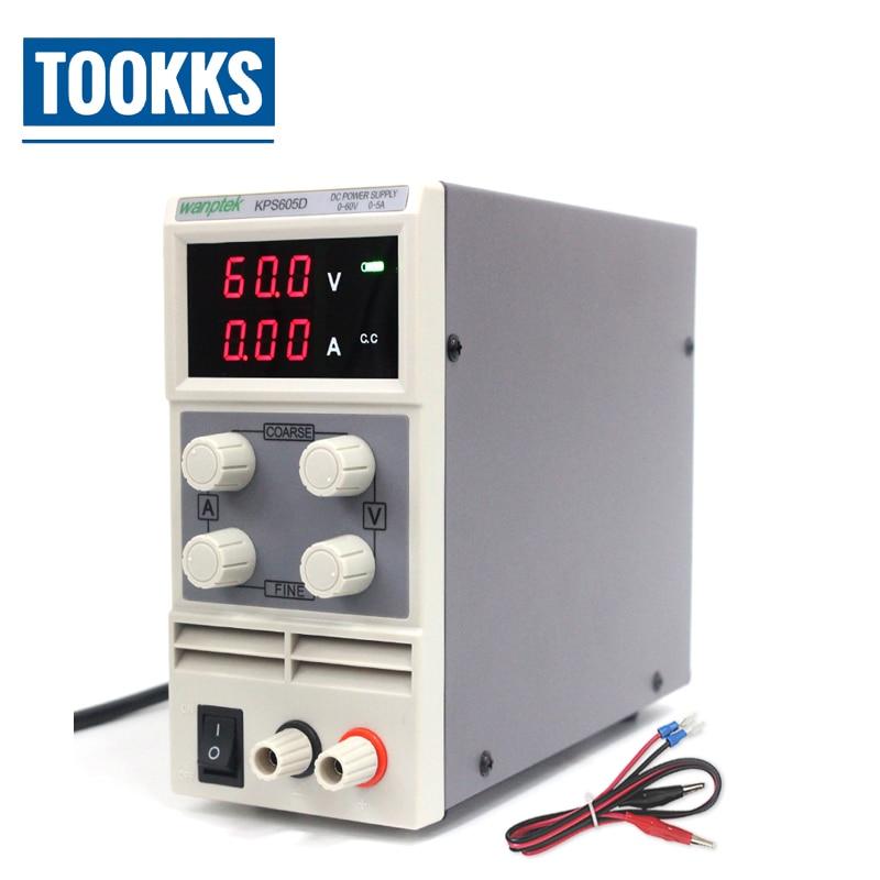 Mini Laboratory Power Supply KPS605D 60V 5A Single Channel Adjustable SMPS Digital Voltage Regulator For Phone