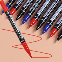 12Pcs/set Wholesale Marker Pens Brush Dual Headed Oil Needle Fineliner Sketch Point Pens High Quality Office Stationery Supplies