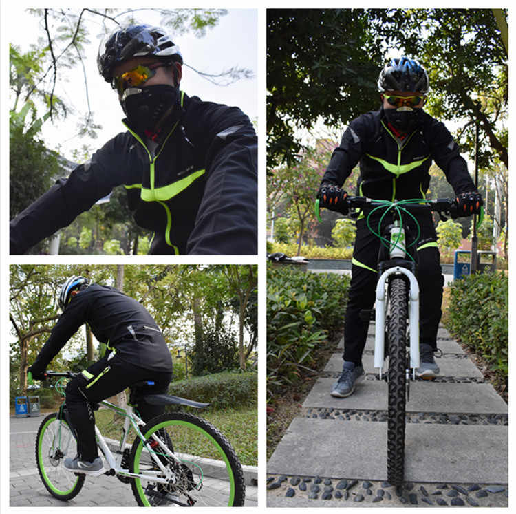 WOSAWE 冬防風サイクリングジャケット男性長袖ウェアサイクルスポーツウェア自転車耐水性ウインドブレーカーバイクコート