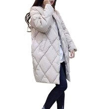 Women's Cotton-padded Jacket New Winter Medium-long Down Cotton Parkas Plus Size Coat Female Slim Ladies Jackets And Coats