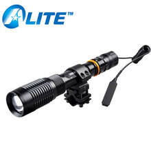 New military XML-T6 LED hunting lamp 3800 lumen rifle gun flashlight torch with one mode high light