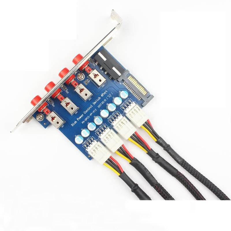 4 bits sortie raid contrôleur Sata 15pin IDE adaptateur connecteur HDD SSD commutateur disque optique lecteur commutateur pour ventilateur de bureau bricolage