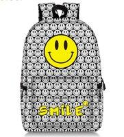 17 Inch Emoji Smile Backpack for Teenager Girls Laptop Mochila Feminina College Student School Backpack Women Travel Bags
