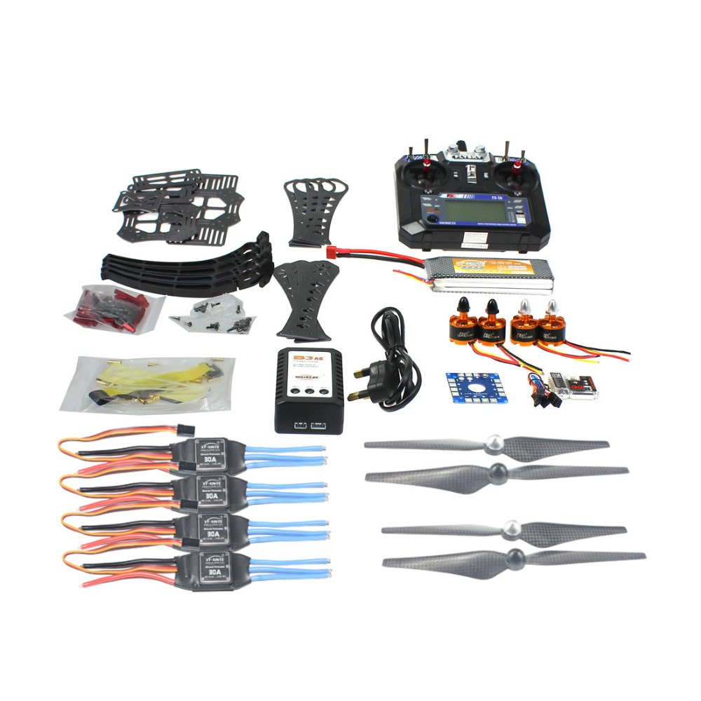 DIY RC Drone Quadcopter ARF X4M360L Frame Kit with QQ Super flight control Motor ESC flysky FS-i6 Transmitter Battery F14892-F f07218 d diy drone quadcopter ufo arf qq super flight control motors battery esc motor welded