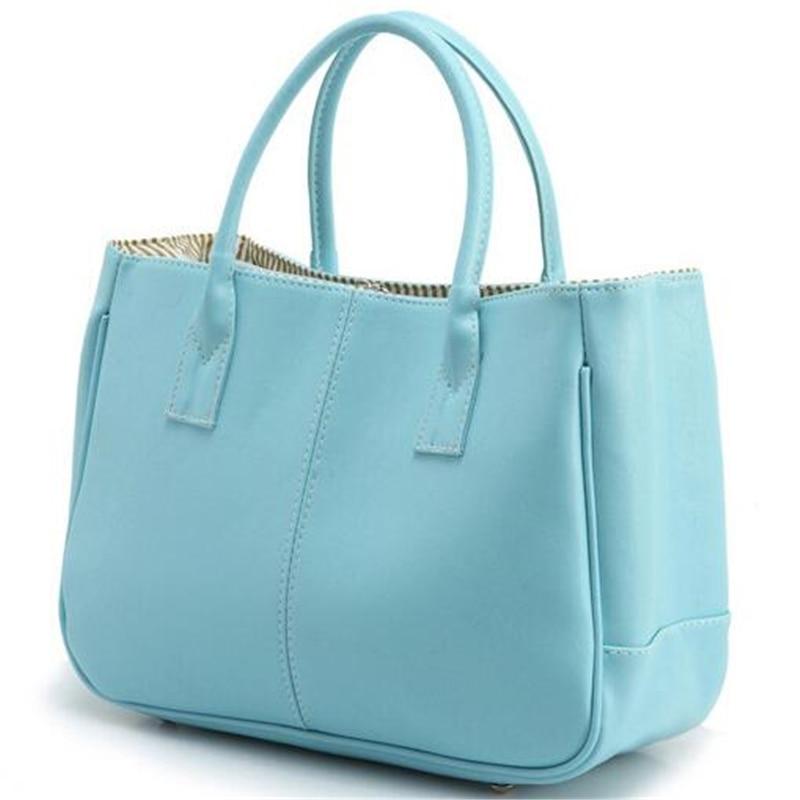 Nye casual håndtasker kvinder læder taske 10 farver kvindelige - Håndtasker - Foto 5