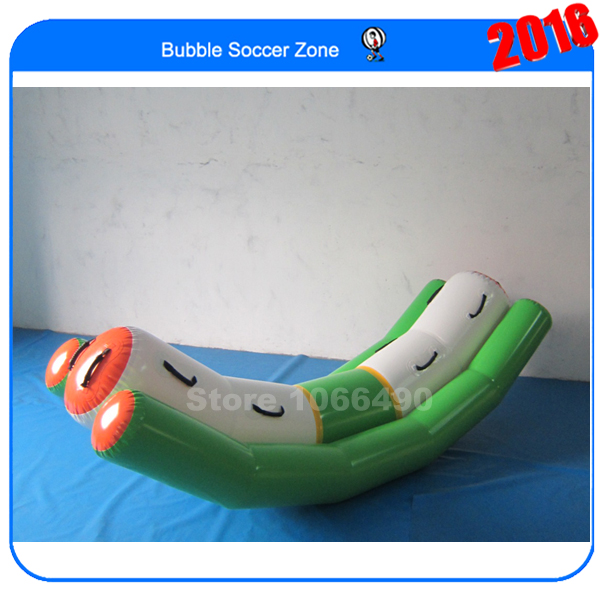 3*1.2m inflatable seesaw for water sports river treasure water sport toys inflatable water seesaw