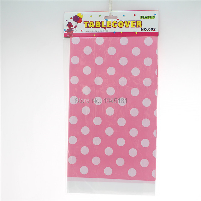200pcs/lot Plastic Party Table Cloth Outdoor Banquet Wedding Party Supplies  Polka Dot Design Tablecloth