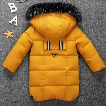 2019 new winter children's clothing children's boy cotton padded warm down jacket in the big boy baby long coat coat 3
