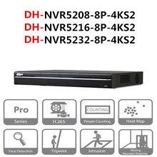 Сетевой видеорегистратор Dahua POE NVR NVR5208 8P 4KS2 NVR5216 8P 4KS2 NVR5232 8P 4KS2 8/16/32 CH 8 PoE 4K и H.265 Pro Сетевой Видео Регистраторы