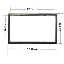 2 Din Frame for Car Multimedia Player Double Din Auto Accessories for 7'' Inch Car Radio 2din MP5 Installation Accessory 103mm(China)