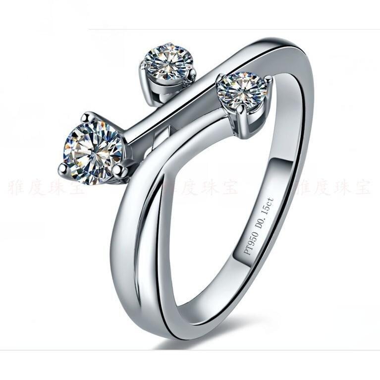 925 engagement jewelry brand 015ct 3stones novel design man synthetic diamonds ring women sterling silver - Mens Designer Wedding Rings