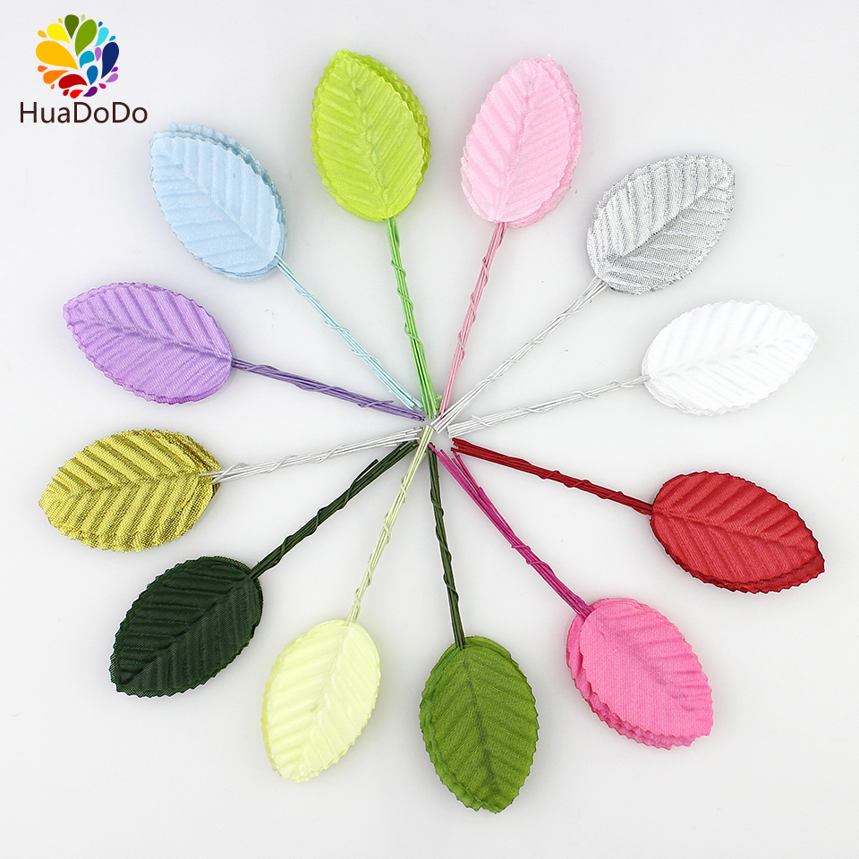 Buy 30pieces 5cm silk leaves green leaf for Artificial flower for wedding decoration