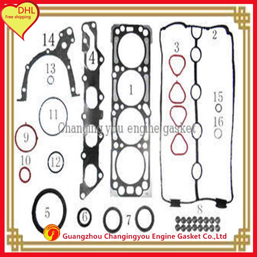 L95 metal automotive spare parts overhaul package for chevrolet aveo 1 4l complete engine gasket set gasket 93740012