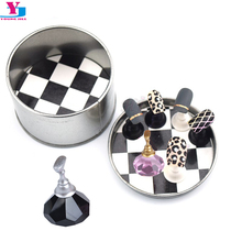1 Set Beauty Nail Art Holder Strong Chess Board Magnetic Crystal Nail Tips Practice Salon Display Unha Stand Gel Polish Manicure